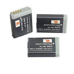 DSTE® 3x NB-13L Replacement Li-ion Battery for Canon PowerS