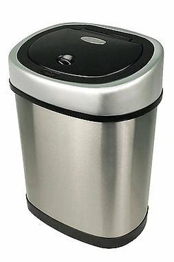Nine Stars Motion Sensor Stainless Steel Trash Can, 3.2 gall
