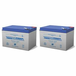Power-Sonic 2 Pack - 12V 12Ah F2 UPS Battery Replaces Gruber