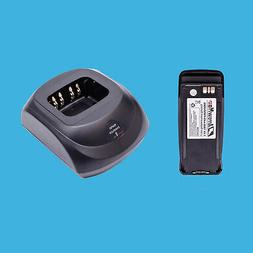 Rapid Charger + Radio Replace Battery for Motorola Walkie Ta