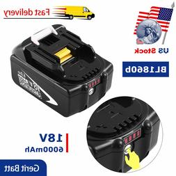 Replace for Makita BL1860B Lithium-ion Battery-18V 6.0Ah BL1