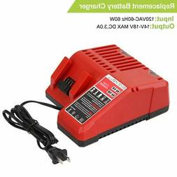 Replace M18 Lithium-ion Battery Charger for Milwaukee 14.4v