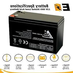 Replacement 12V 8AH SLA Battery UB1280 NP8.5-12 PS-1280 GP12