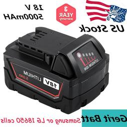 Replacement for Milwaukee 18V Battery 5.0AH Li-Ion for M18 1