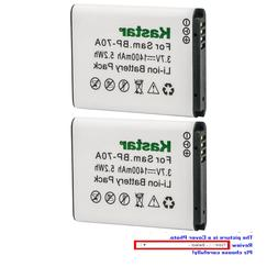 Kastar Replacement Battery for Samsung BP-70A & Samsung SL60