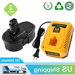 Replacement for Dewalt 18V XRP DC9096 Battery 3600mAh and 1x