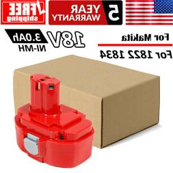 Replacement Power Tool Battery 18V 3.0Ah NI-MH for Makita 18