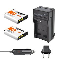 Bonacell 2 Pack 1600mAh Replacement Sony NP-BG1 Battery and