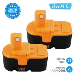 For Ryobi 18v Replacement Battery 3.0Ah Ni-Mh One Plus P100