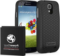 PowerBear Samsung Galaxy S4 Extended Battery  & Back Cover &