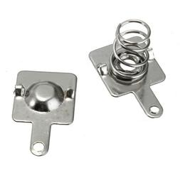 Silver Tone Spring Battery Contact Plate Replacement Set For