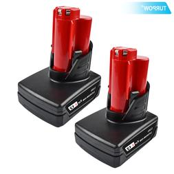 Turpow tools <font><b>battery</b></font> For Milwaukee M12 <