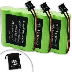 3 PACK Uniden BT-909 , BT909 Replacement Cordless Phone Batt