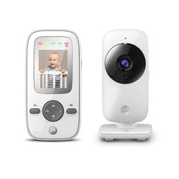 "Video Baby Monitor White Digital Zoom 2"" inch Color LCD Disp"