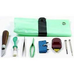 8pc Watch Battery Replacement Kit Crab Tool Tweezers Knife S