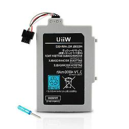 Wii U Gamepad Long Lasting Replacement Rechargeable 4000Mah