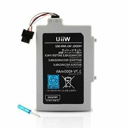 Wii U GamePad Long Lasting Replacement Rechargeable 4000MA